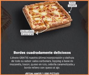 1000 pizzas gratis en Telepizza