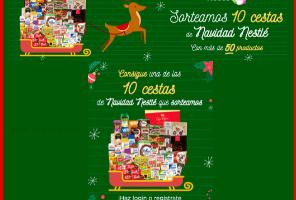 Sorteo 10 cestas de Navidad Nestle®