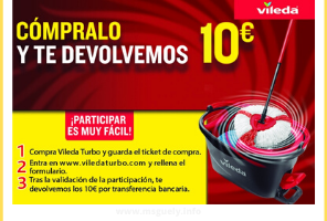 Reembolso 10 euros con Vileda