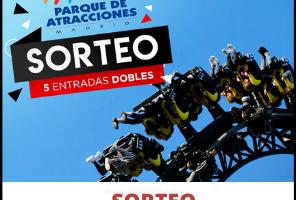 Sorteo 5 entradas al Parque de Atracciones de Madrid