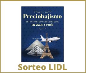 Sorteo Viaje a Paris Lidl