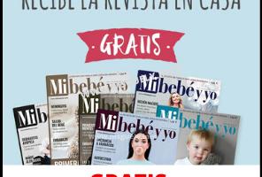 Pide tu revista de Mi Bebe y Yo gratis