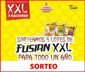 Sorteo 10 lotes Fusian XXL