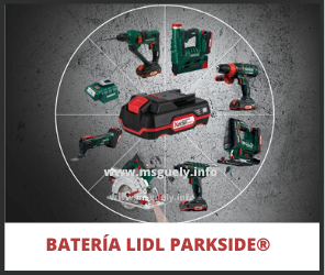 Lidl Tipos de baterías parkside