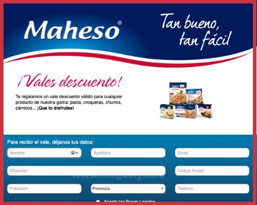 Cupón 1 euro Maheso