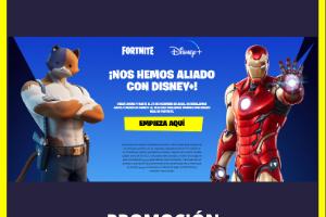 Promoción Fornite y Disney Plus