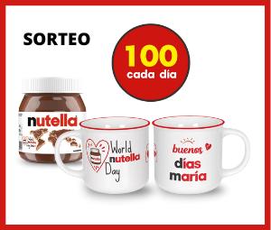 Sorteo Taza Personalizada Nutella