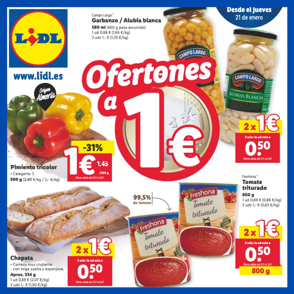 Lidl Ofertas a 1 Euro