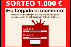 Sorteo 1000 euros Nestlé Chocolate